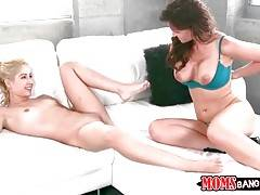 Milf And Cute Young Couple Do Great Threesome 1